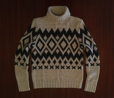 NWT Abercrombie & Fitch NEW YORK Muscle Fit Turtleneck Wool Jumper Men's S