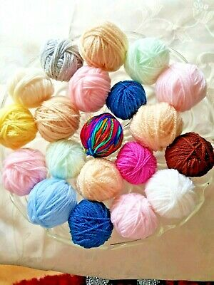 Small Balls Dk Assorted Colours Yarn Crafts/Knit/Crochet Approx. 200Grs+