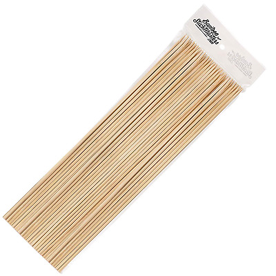 100-300 BBQ BAMBOO STICKS Wooden Skewers Fruit Chocolate Fountain Sticks 30cm