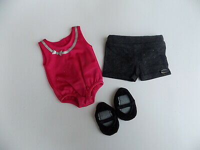 """American Girl for 18"""" Doll Dance to the Beat Outfit Set Clothes Leotard Shorts"""