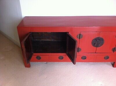 antique Chinese oriental buffet / sideboard