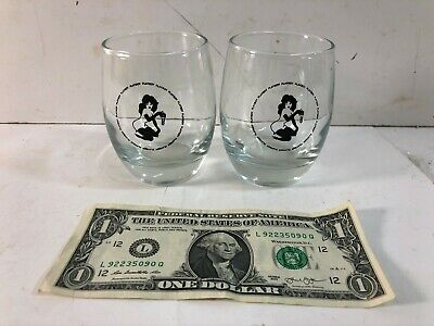 Vintage 1960's Playboy Club Whiskey Glasses of Femlin | Design by Leroy Neiman