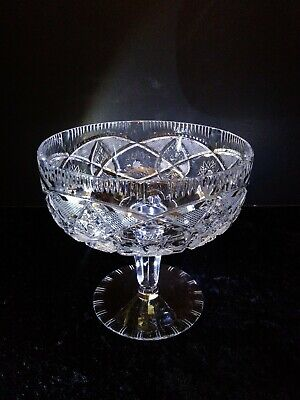 Antique Hand Cut Crystal Compote