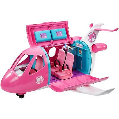 Barbie Doll Dreamplane Jumbo Plane Jet Vehicle Playset Accessories Toy Pink New