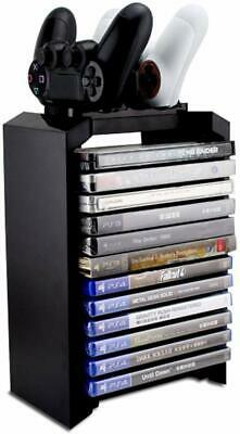 PS4 Games Charger Storage Tower, Playstation 4 Controller Dual Dock Station Gift