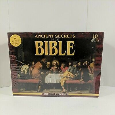 Ancient Secrets of the Bible Collectors Edition (VHS, 2000, 10-Tape Set) New