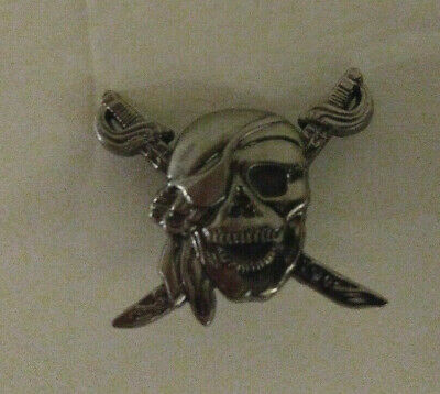 Silver Leather Conchos Skull And Swords Free Shipping