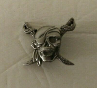 Silver Leather Conchos A Skull And Swords Free Shipping