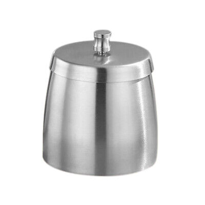 Outdoor Ashtray with Lid for Cigarettes Stainless Steel Windproof Rainproof J8U8