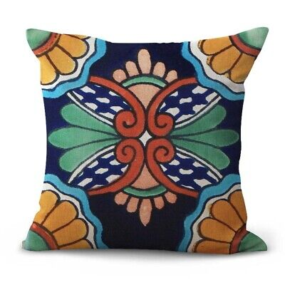 US Seller wholesale cushion covers Mexican talavera flowers