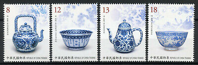 Taiwan China Stamps 2019 MNH Ancient Art Treasures Porcelain Artefacts 4v Set