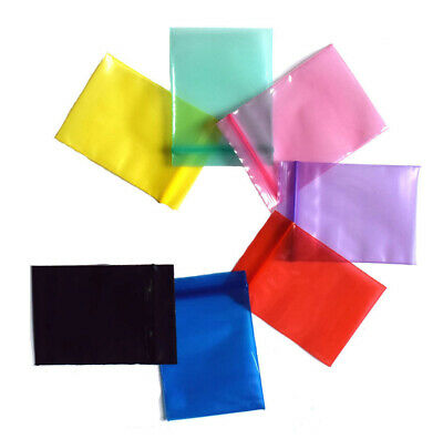 Colorful Transparent Zip Lock Bags Poly Storage Zipped Pouches Pack Resealable