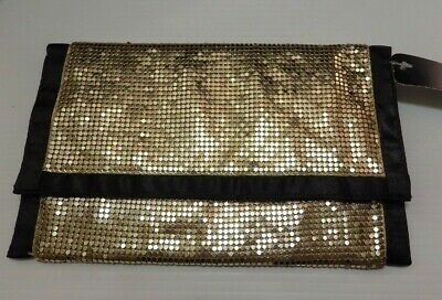 Sportsgirl large gold mesh purse, magnetic - as new with tag - Sports Girl