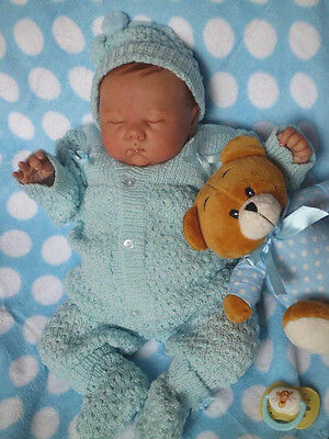 SWEET Knit Baby Doll Outfit For Reborn BLUE