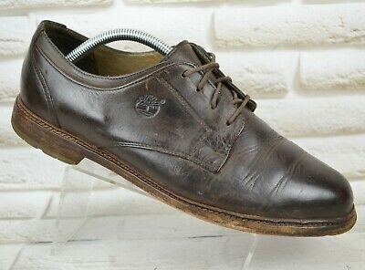 TIMBERLAND Waterproof Mens Brown Leather Casual LaceUp Shoes Size 8.5 UK 42.5 EU