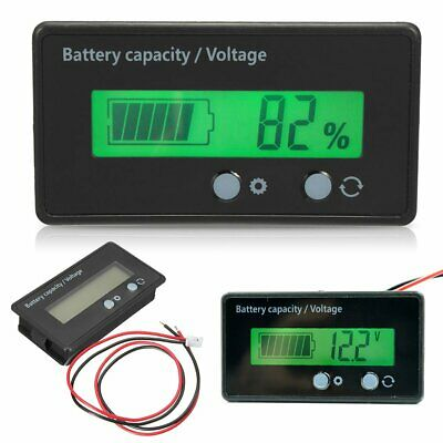 12V Indicator Battery Capacity Voltage Tester Display Lead-acid Monitor W/ Cable