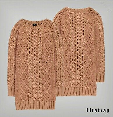Girls Firetrap Long Sleeves Crew Classic Jumper Dress Sizes from 5 to 13