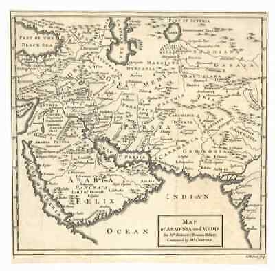 1775 Rollin Map of Armenia and Media