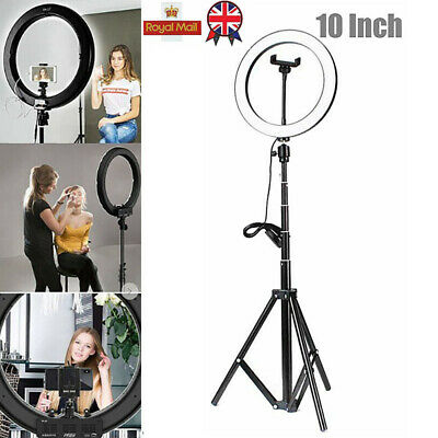 """10"""" LED Ring Light Dimmable Kit Phone Selfie+Tripod Stand For Youtube Live Lamp"""