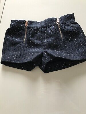 Girls Baker By Ted Baker Navy Sparkly Shorts 12-18months