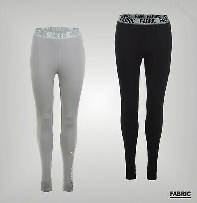 Ladies Fabric Full Length Elasticated Large Logo Leggings Sizes from 8 to 16