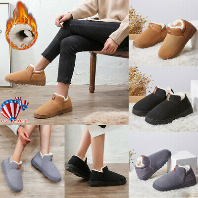 Women Winter Warm Snow Boots Ladies Soft Fur Lined Casual Men Ankle Shoes Size