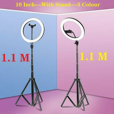 10 ft LED Studio Ring Light Photo Video Dimmable Lamp Light Tripod Selfie Camera