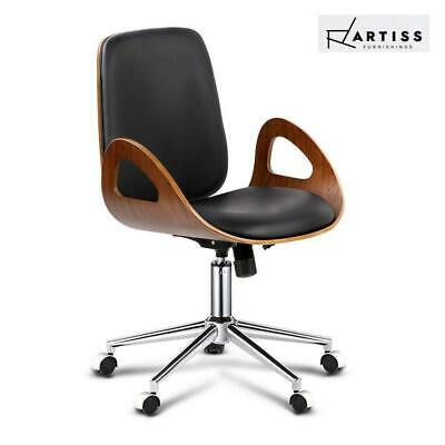 RTS Artiss Executive Wooden Office Chair Leather Computer Chairs Work Seating De