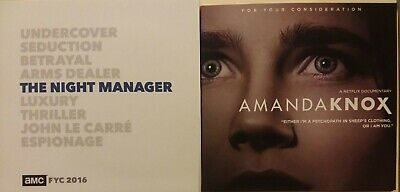 The Night Manager Complete Series [Amc] & Amanda Knox [Netflix] Emmy Fyc Dvd Lot