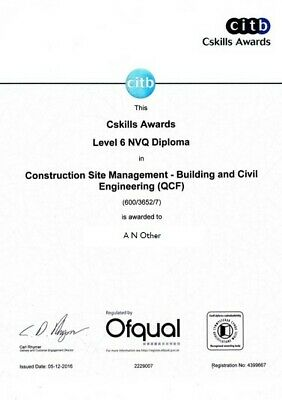 NVQ Diploma Level 6 Construction Site Management All Answers *Assessor Verified*
