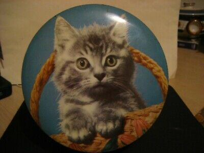 Vintage Embassy Toffee Tin Very Cute Cat
