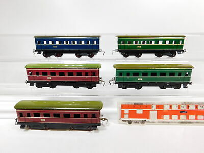CG173-0,5# 5x H0/DC Blech-Personenwagen Express, Made in Western Germany 2. Wahl