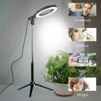 Studio LED Ring Light Dimmable Lamp YouTube Video Make-up Selfie Camera Phone UK