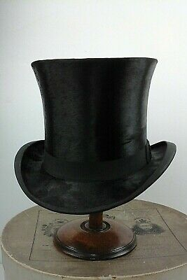 Victorian Child's Black Silk Top Hat 6 3/4. Good Condition. Theater Prop.