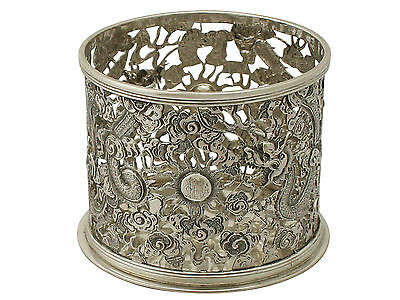 Chinese Export Silver Bottle Coaster - Antique Circa 1900