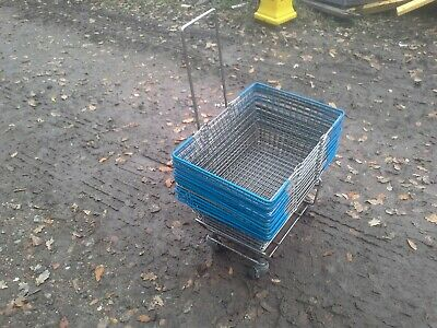 2 Handle Wire Shopping Basket Retail Supermarket Use Hand Carry Mesh