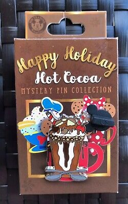 Disney Parks Happy Holiday Hot Cocoa Disney Pin Mystery box Chip And Dale