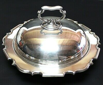 Silver Plated Round Tureen with the Lid England