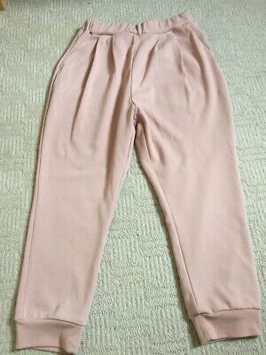 Girls uniqlo pink joggers size 7-8 years