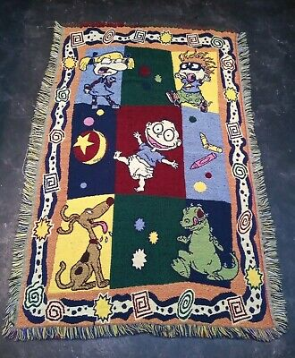 Vintage Rugrats Tapestry Throw Blanket 135cmx90cm Northwest Company Nickelodeon