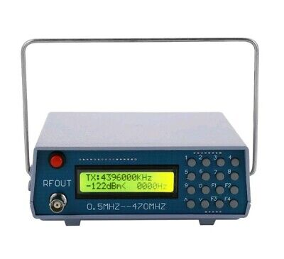 0.5MHz-470MHz RF Signal Generator Meter Tester for FM Radio Walkie-talkie F5O6