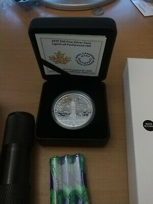 Canada Lights of Parliament Hill  (2019) (Low COA) Silver Coin