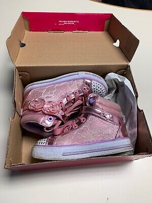 Girls Skechers Twinkle Toes Light Up Casual Shoes/Pumps UK 10
