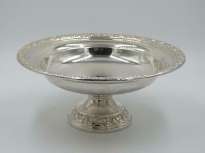 Vtg 1956 Wallace Silversmiths Sterling Silver Weighted Floral Candy Compote Dish