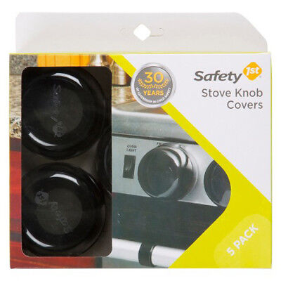 Safety 1st 5 Pack Black Stove Knob Hinged Covers HS147 Child Proof - 72325