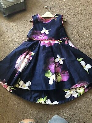 Girls Ted Baker Floral Dress 4-5 Years