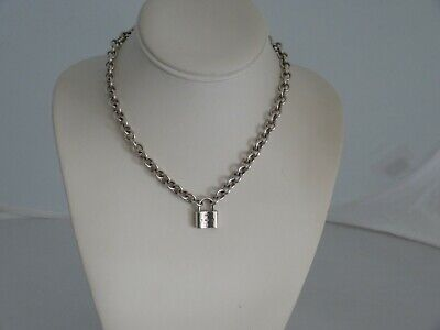 Tiffany & Co 925 Sterling Silver 1837 Lock Pendant Necklace