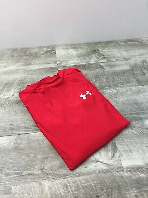UNDER ARMOUR Youth Red Heat Gear Compression Fit Athletic  Shirt Size Medium