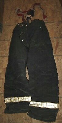 Cairns & Brother Firefighter Turnout Pants Vintage Fireman overalls 38x30 USED