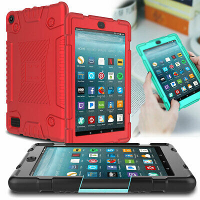 For Amazon Kindle Fire HD 8 7 2019 9th Gen Kids Shockproof Silicone Tablet Case